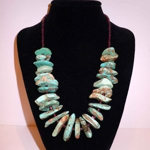 Genuine Turquoise and Sterling Silver Necklace
